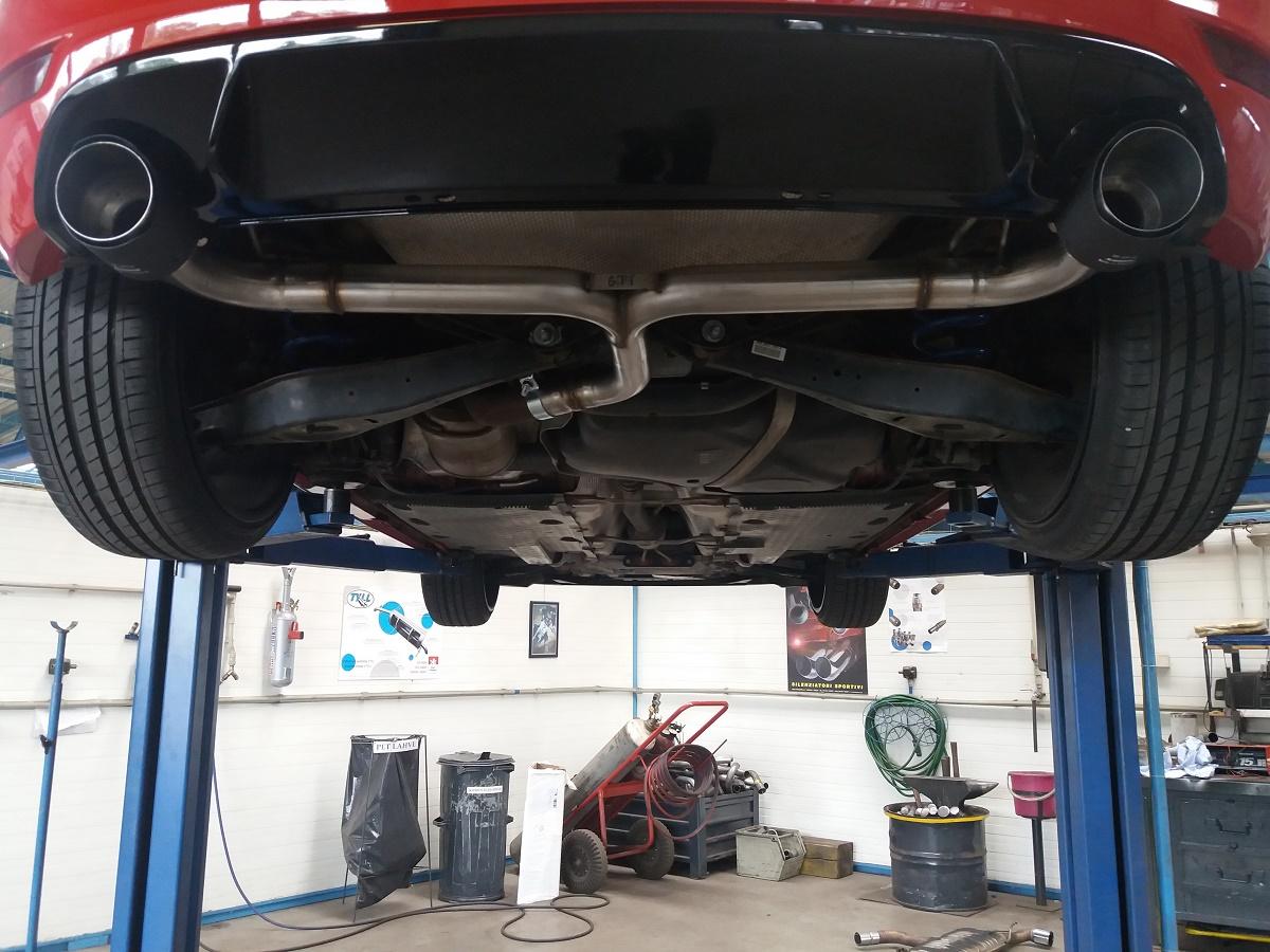 Golf-VI-GTI-trubka - zadní díl nerez 63,5