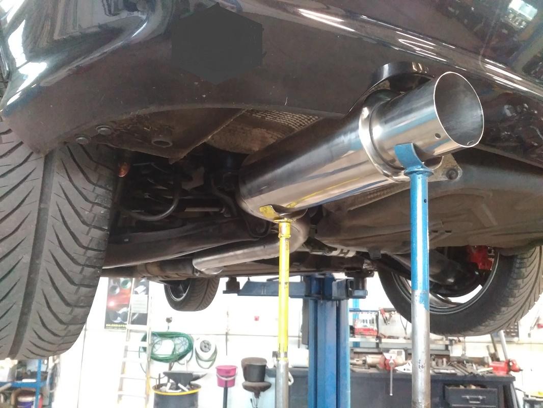 Mercedes SLK - nerezový koncový díl + přívodní trubka 63 mm