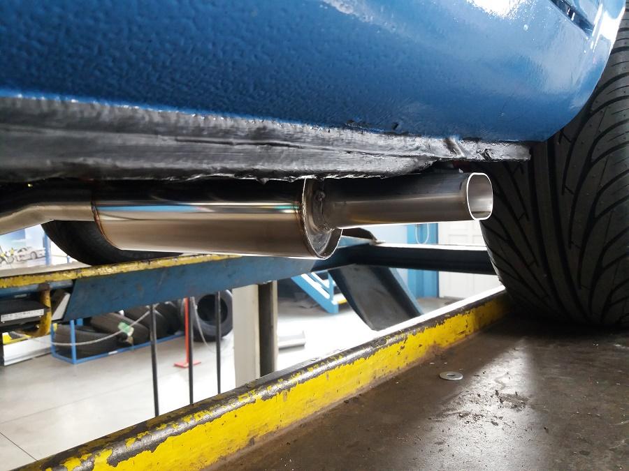 Renault Gordini - výroba výfuku dle požadavku zákazníka - celonerezový výfuk - absorbční rezonátor + tlumič s koncovkou