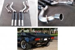 De Tomaso Pantera -renovace výfuku - výroba přívodu a koncovek z nerezu