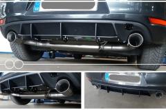 Golf VI GTD 135 kW, výfuk duplex, nerez, difuzor z golf GTi