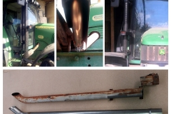 John Deere trubka výfuku 63mm/70mm/76mm nerez