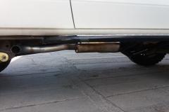 Toyota Land Cruiser 4,2 T úprava vnitřní části výfuku po přidání turba a úprava koncové trubky po montáži nášlapů