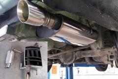 sportovní nerezový výfuk Ford Mustang 4,0 V6 - náhrada sériového a poté příliš hlučného sportovního výfuku