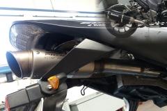montáž sportovních výfuků na moto - náhrada sériového tlumiče sportovním